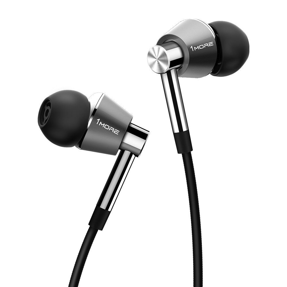 Compare retail prices of 1MORE E1001 Triple Driver In Ear Headphones for Apple and Android 3.5mm Headphone Plug Titanium to get the best deal online