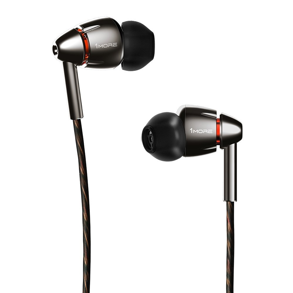 1MORE E1010 Quad Driver In-Ear Headphones for Apple and Android - Titanium