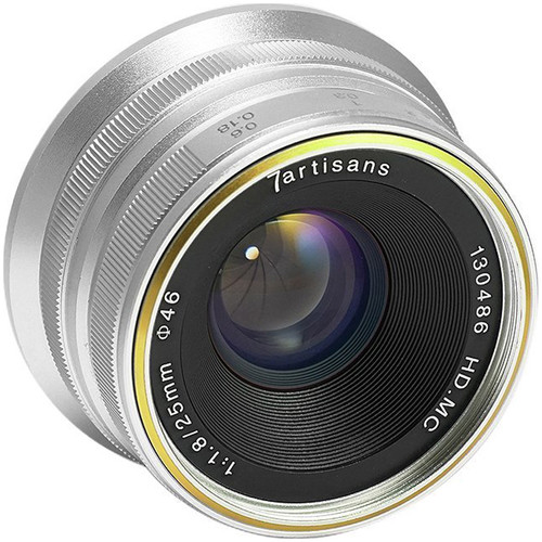 7artisans Photoelectric 25mm f/1.8 Lens for Canon EF-M Mount - Silver