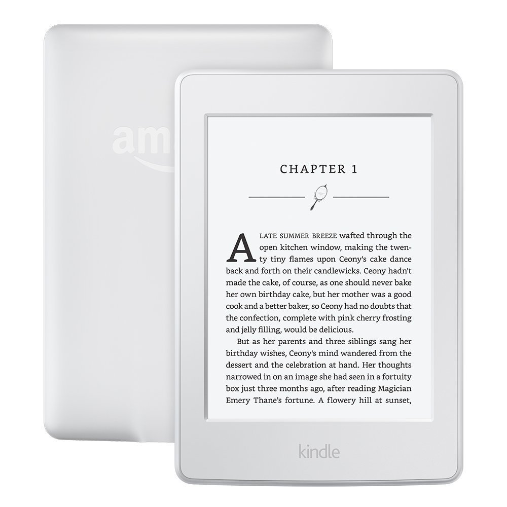 Image of Amazon New Kindle Paperwhite 6 inch 4GB WiFi - White (2015 US version 300ppi with AD)