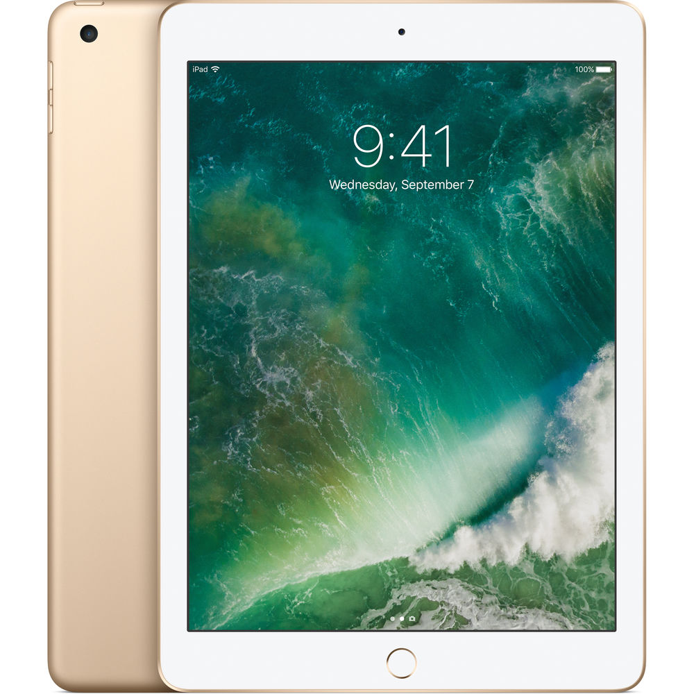 "Apple iPad 9.7"" (2017) 128GB Wifi with Premium Folding Case (Black) - Gold cheapest retail price"
