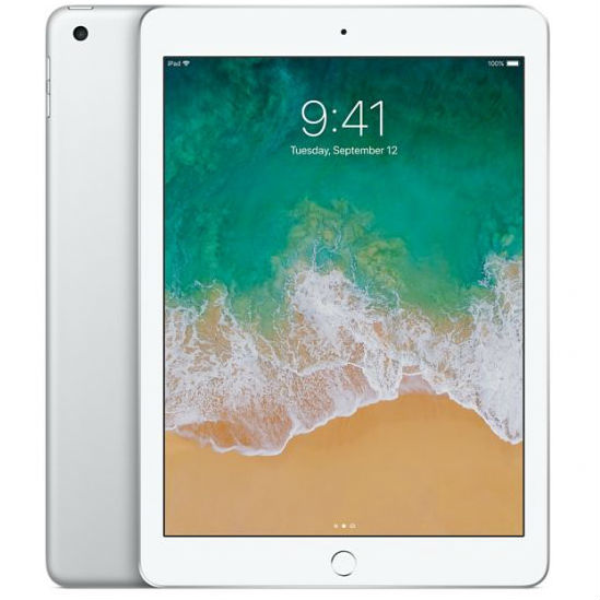 Apple iPad 9.7 2018 128GB Wifi with Rounded Edges Tempered Glass Screen Protector Silver cheapest retail price