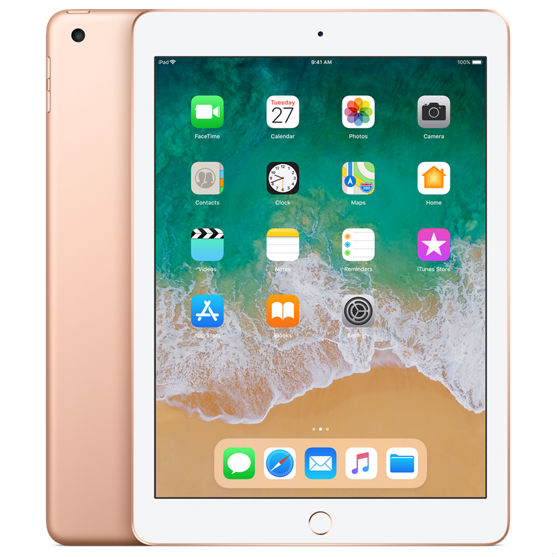 Apple iPad 9.7 2018 128GB Wifi with Rounded Edges Tempered Glass Screen Protector Gold cheapest retail price
