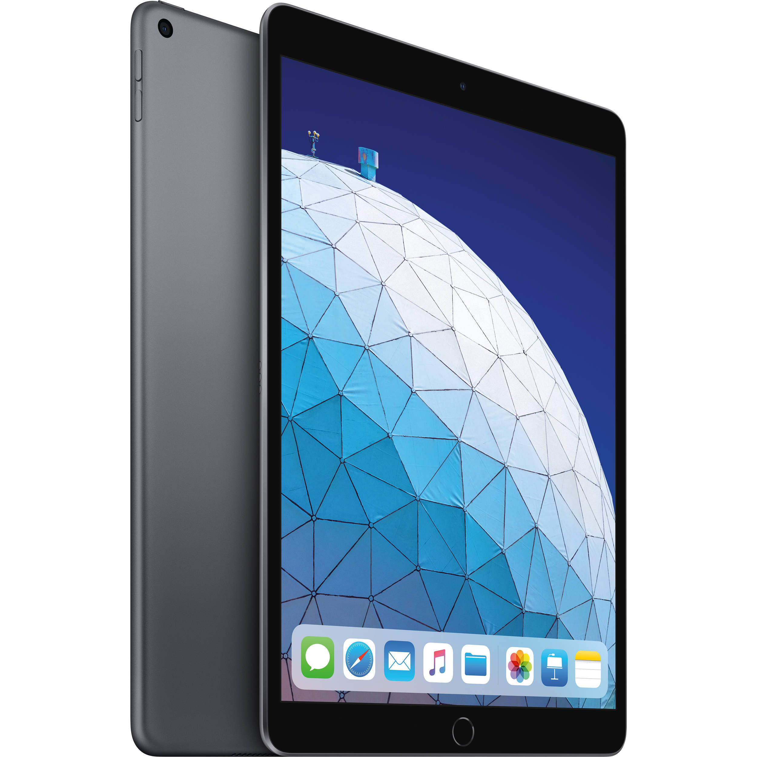 """Image of Apple iPad Air (2019) 10.5"""" MUUQ2 256GB WiFi with Tempered Glass Screen Protector and Folding Case (Black) - Space Gray (with 1 year official Apple Warranty)"""