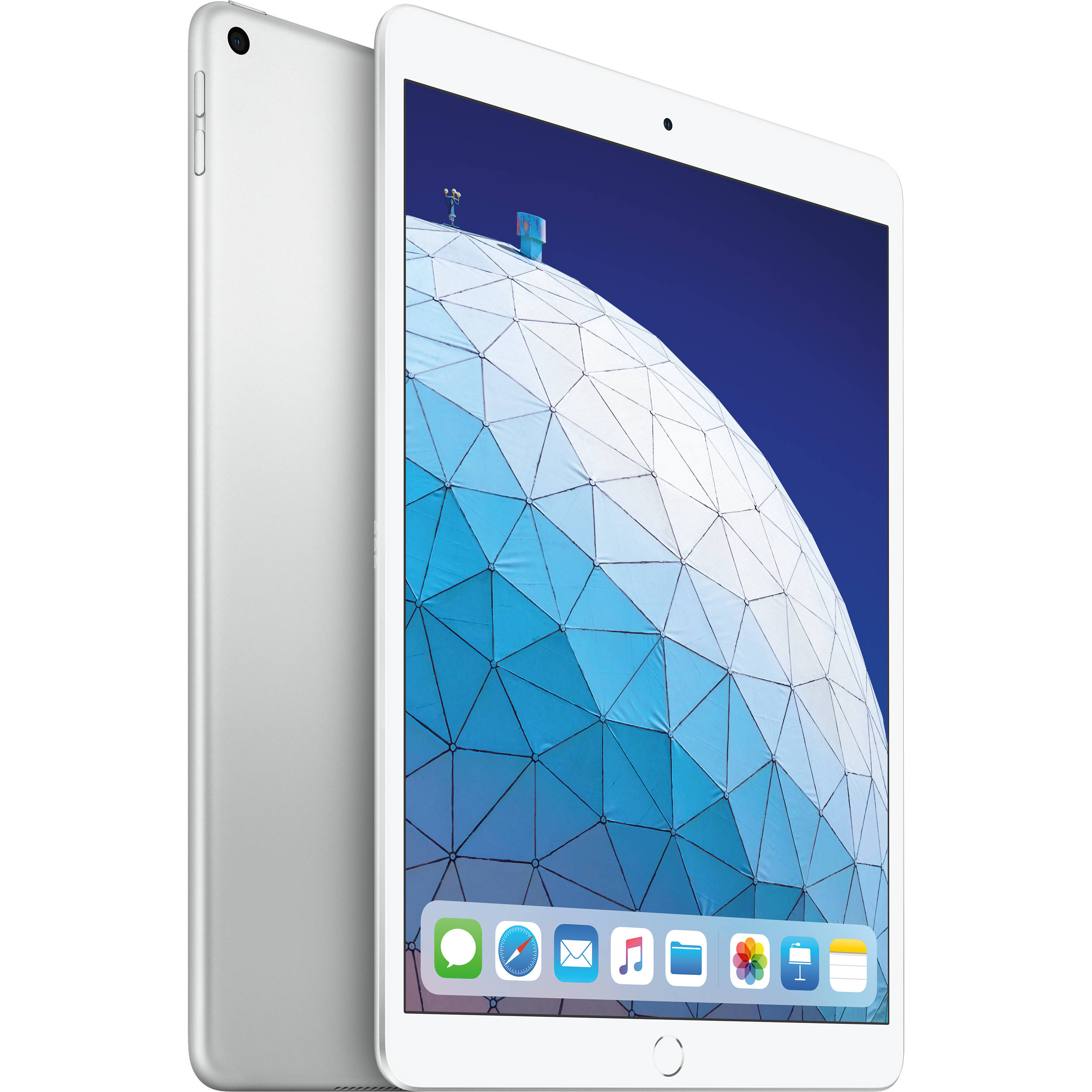 """Image of Apple iPad Air (2019) 10.5"""" MUUR2 256GB WiFi with Tempered Glass Screen Protector and Folding Case (Black) - Silver (with 1 year official Apple Warranty)"""