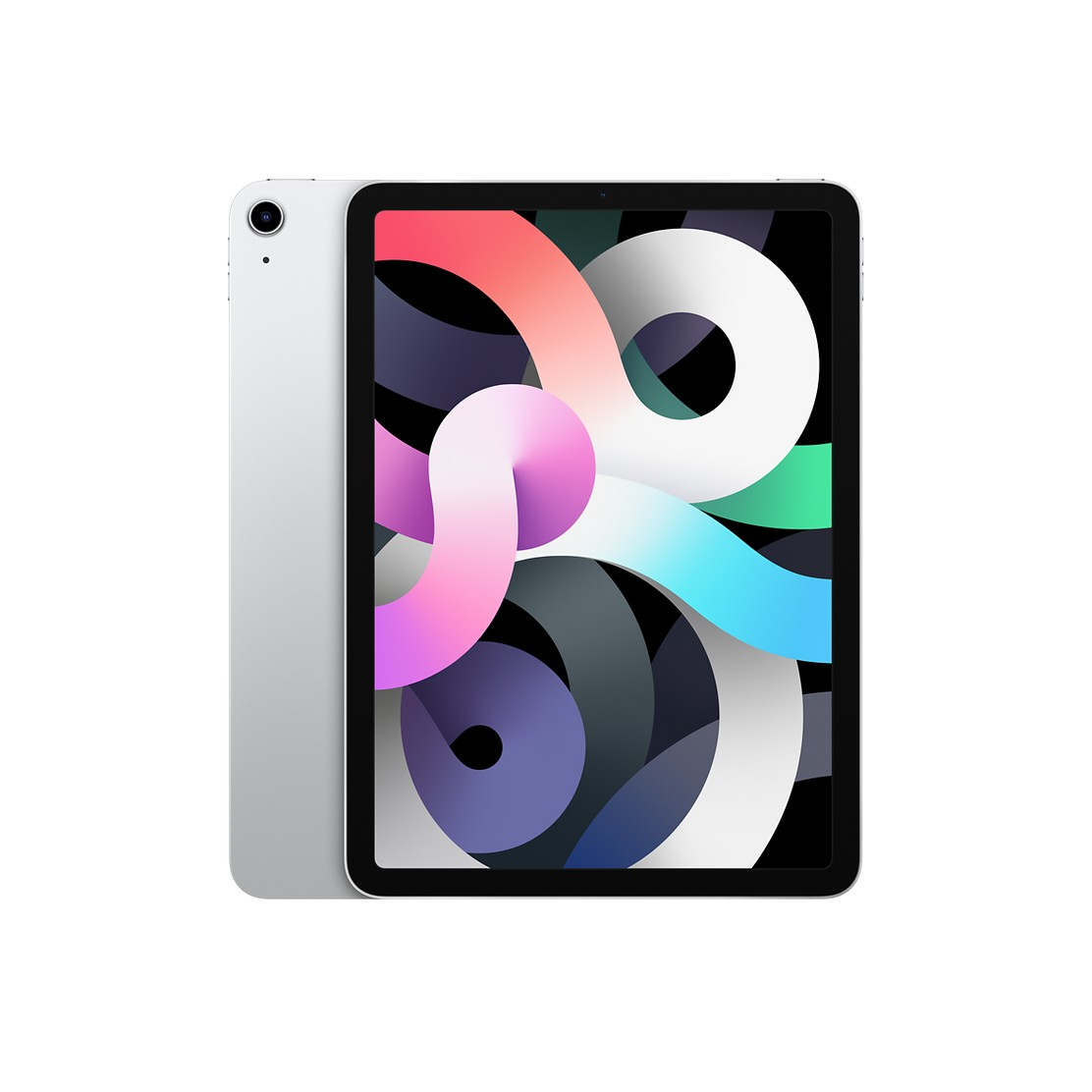 Apple iPad Air 2020 4th generation A14 64GB Wi-Fi with Screen Protector and Folding Case (Black) - Silver