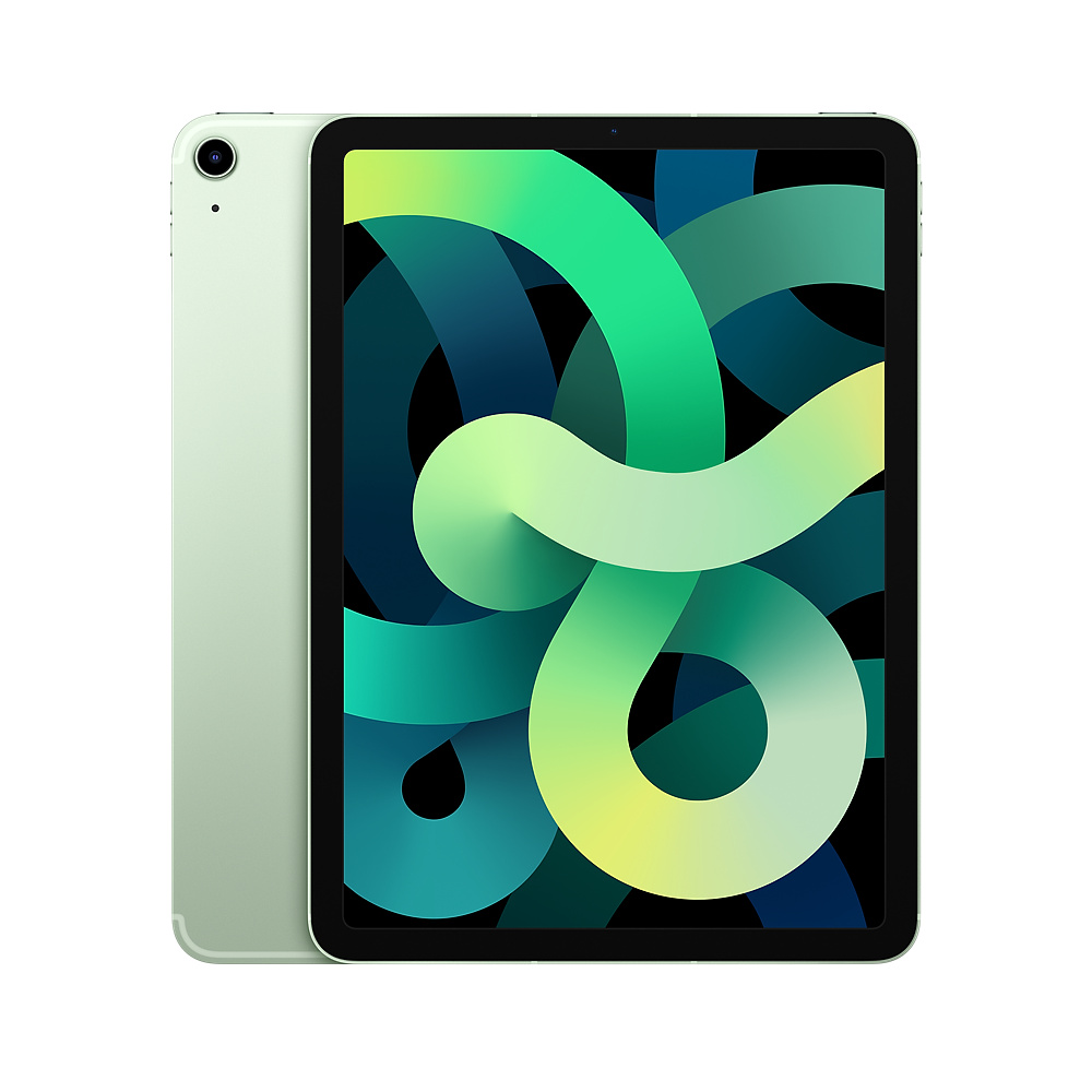 Apple iPad Air 2020 4th generation A14 64GB Wi-Fi with Screen Protector and Folding Case (Black) - Green