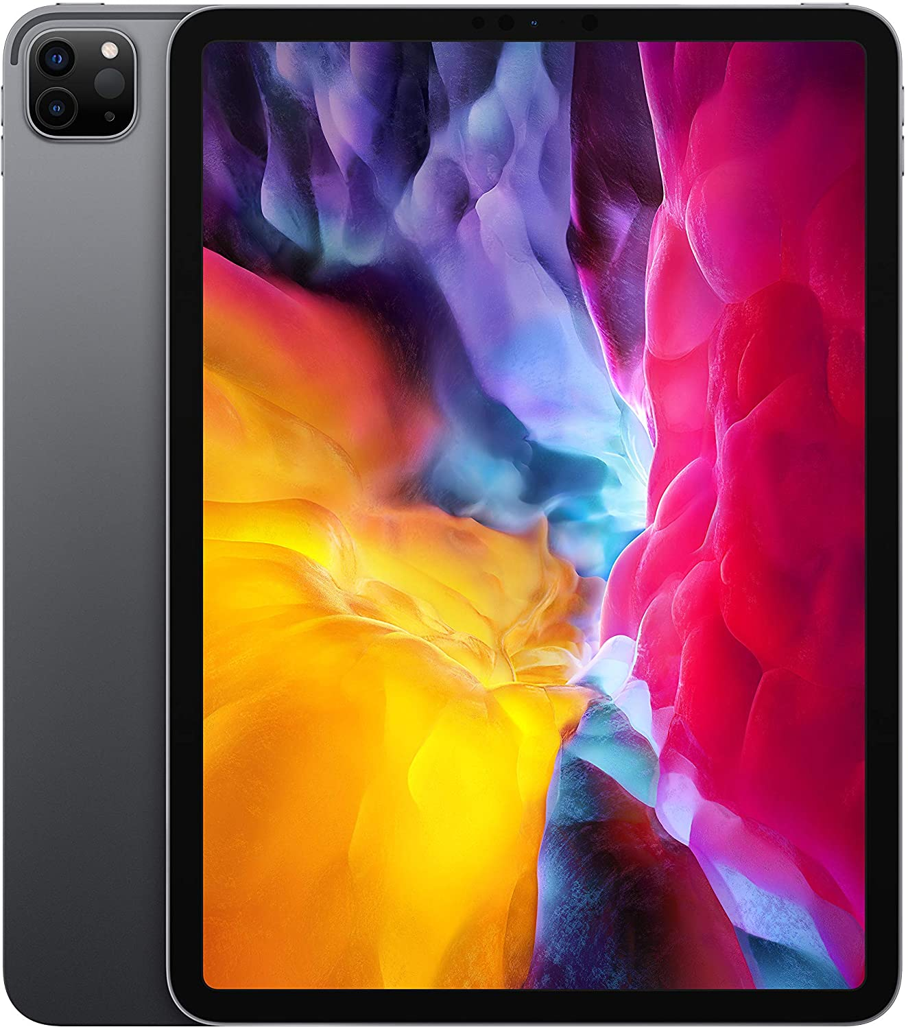 """Apple iPad Pro 11"""" (2020) Wifi 512GB with Screen Protector and Folding Case (Black) - Space Gray"""