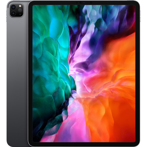 """Apple iPad Pro 12.9"""" (2020) Wifi 512GB with Screen Protector and Folding Case (Black) - Space Gray"""