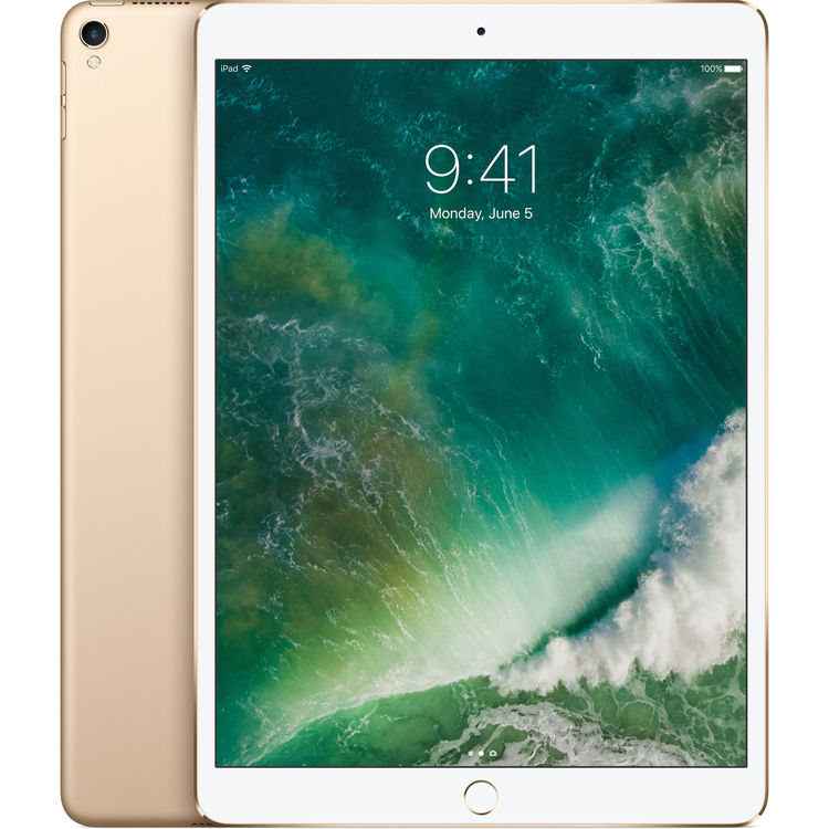 Apple iPad Pro 2017 10.5 256GB Wifi with Rounded Edges Tempered Glass Screen Protector Gold cheapest retail price