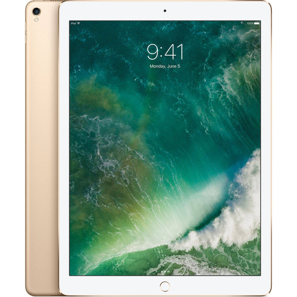 "Image of Apple iPad Pro (2017) 12.9"" 64GB Wifi Tablet- Gold"
