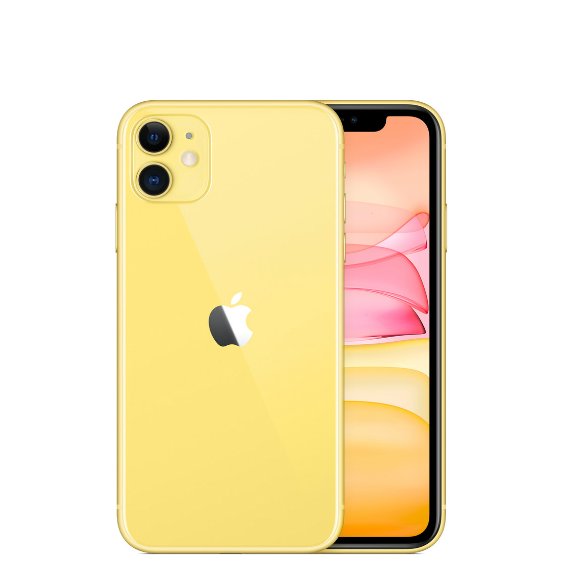 Image of Apple iPhone 11 128GB A2223 Dual Sim with Tempered Glass Screen Protector - Yellow