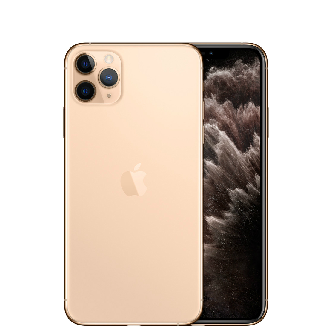 Image of Apple iPhone 11 Pro 512GB A2217 Dual Sim with Tempered Glass Screen Protector - Gold