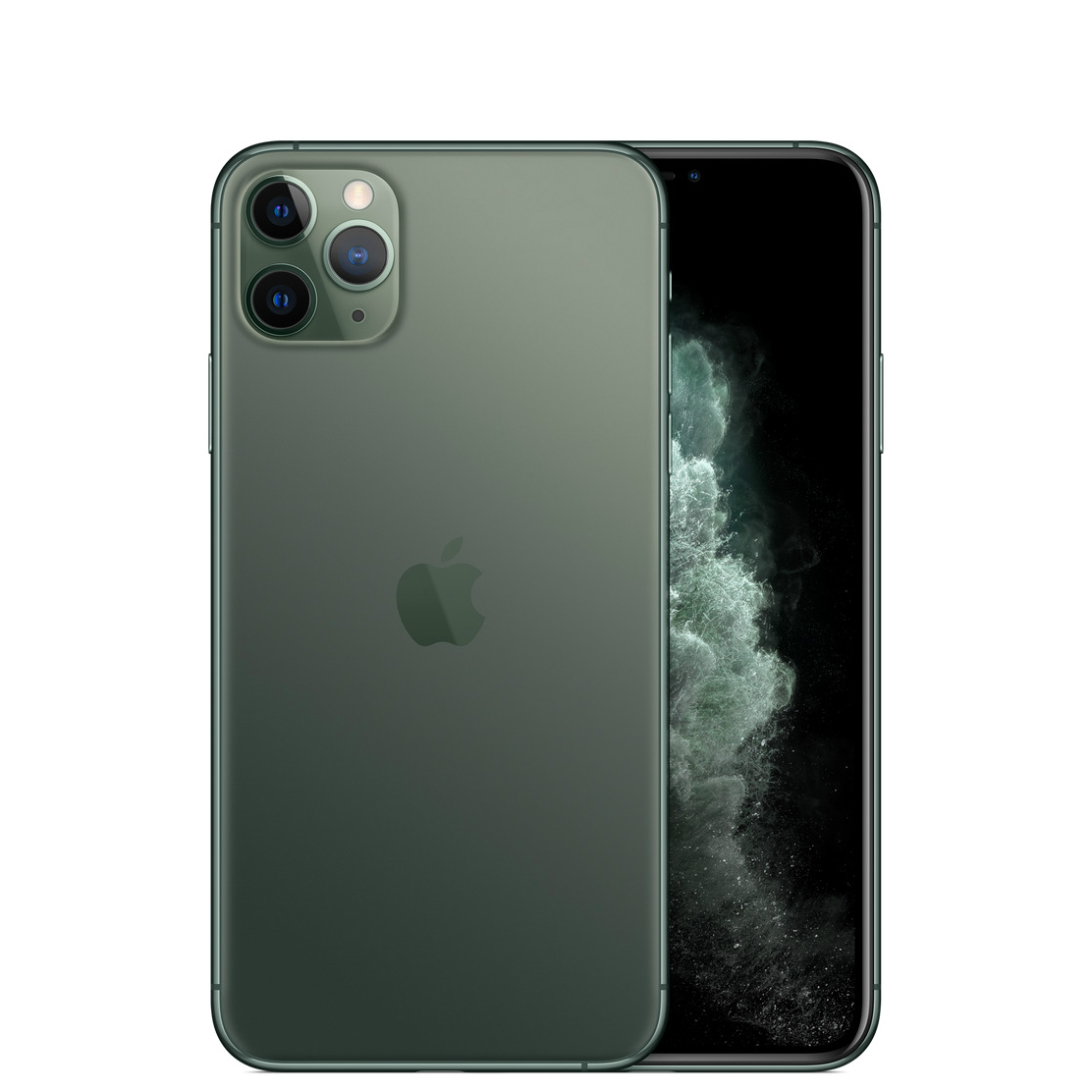 Image of Apple iPhone 11 Pro Max 256GB A2220 Dual Sim with Tempered Glass Screen Protector - Midnight Green