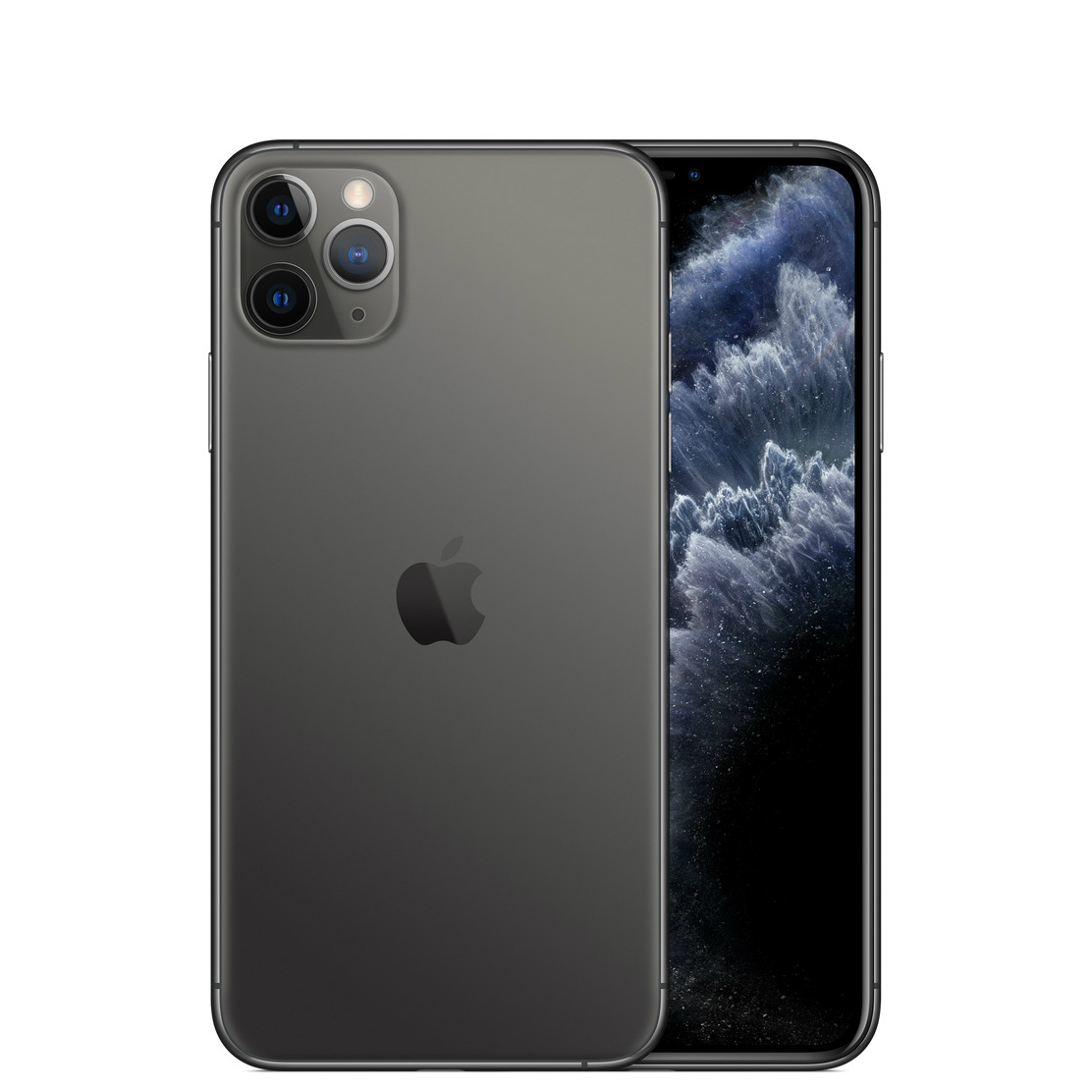Image of Apple iPhone 11 Pro Max 256GB A2220 Dual Sim with Tempered Glass Screen Protector - Space Gray