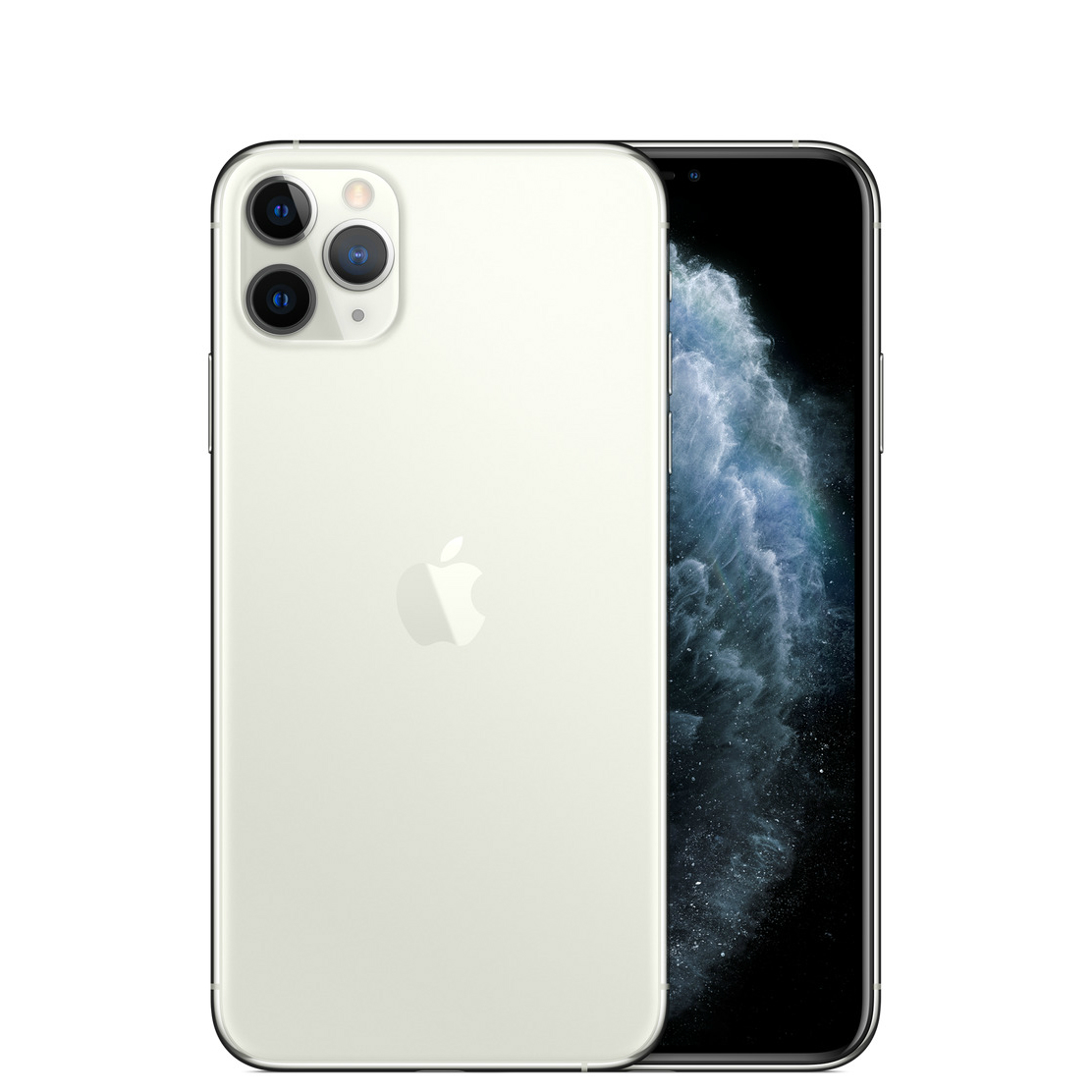 Image of Apple iPhone 11 Pro Max 64GB A2220 Dual Sim with Tempered Glass Screen Protector - Silver