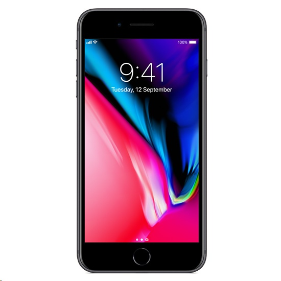 Image of Apple iPhone 8 Plus 256GB A1864 SIM FREE/ UNLOCKED - Space Gray with Apple Airpods