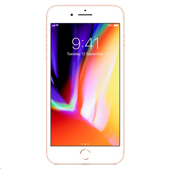 Apple iPhone 8 Plus 64GB A1864 With Tempered Glass Screen Protector for iPhone 8 Plus Gold cheapest retail price