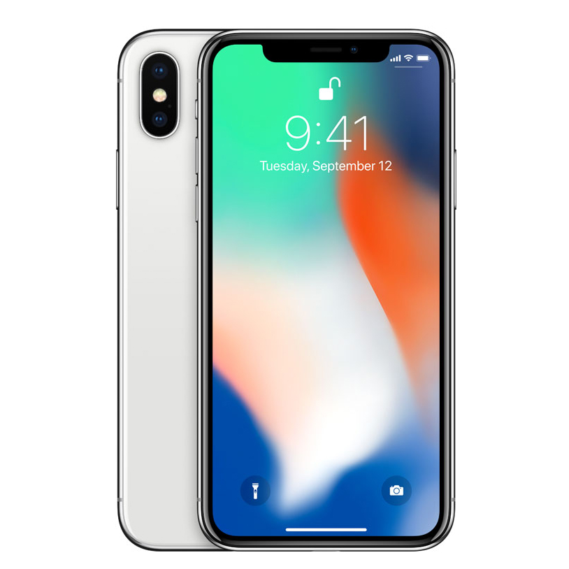 Apple iPhone X 64GB with 3D Curved Premium Tempered Glass Screen Protector (Black Edge) - Silver cheapest retail price