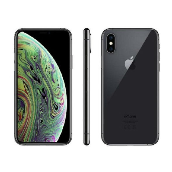 Image of Apple iPhone XS 256GB Dual sim (nano-SIM & eSIM) A1920 With Generic Tempered Glass Screen Protector- Space Gray
