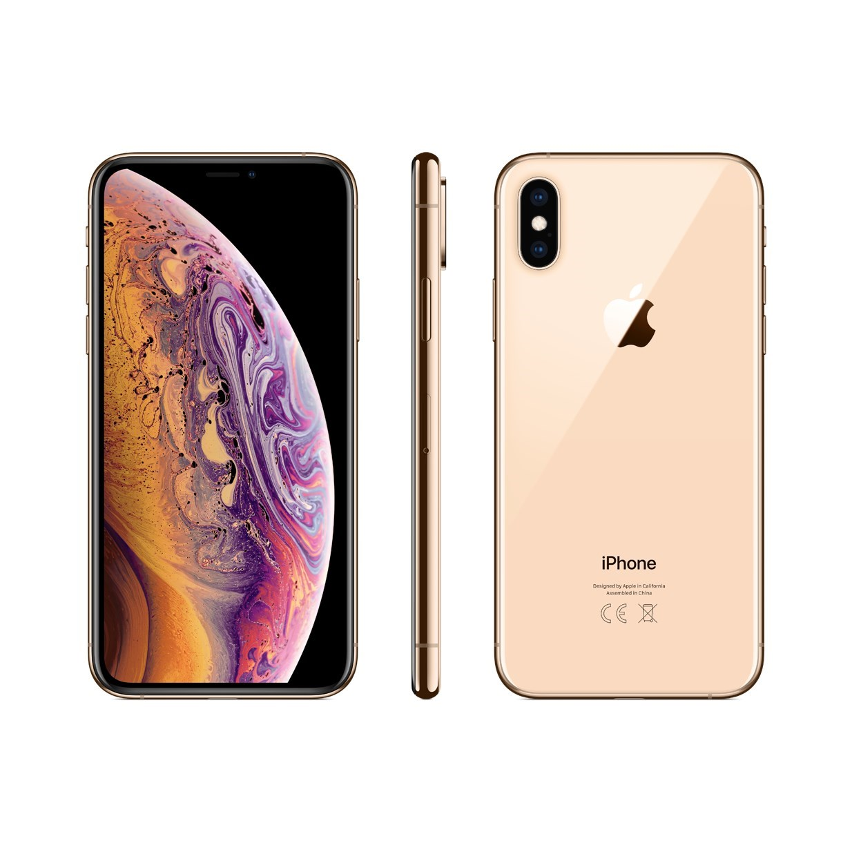 Image of Apple iPhone XS 64GB Dual sim (nano-SIM & eSIM) A1920 With Generic Tempered Glass Screen Protector- Gold
