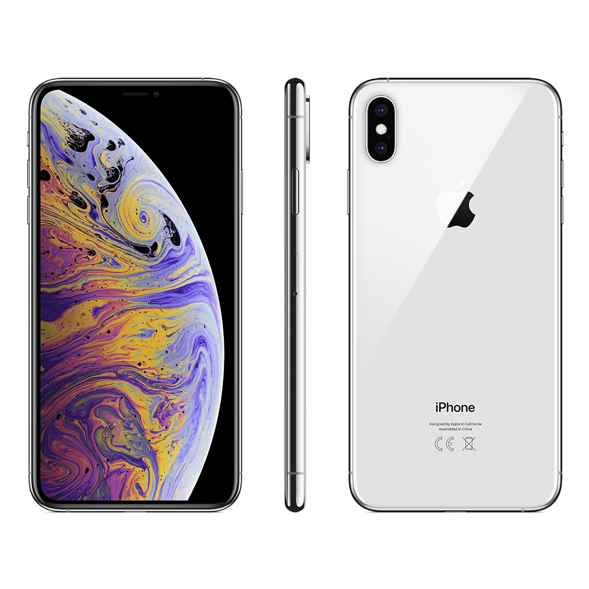 Image of Apple iPhone XS Max 64GB Dual Sim (2 nano-SIM) SIM FREE/ UNLOCKED A2104 - Silver