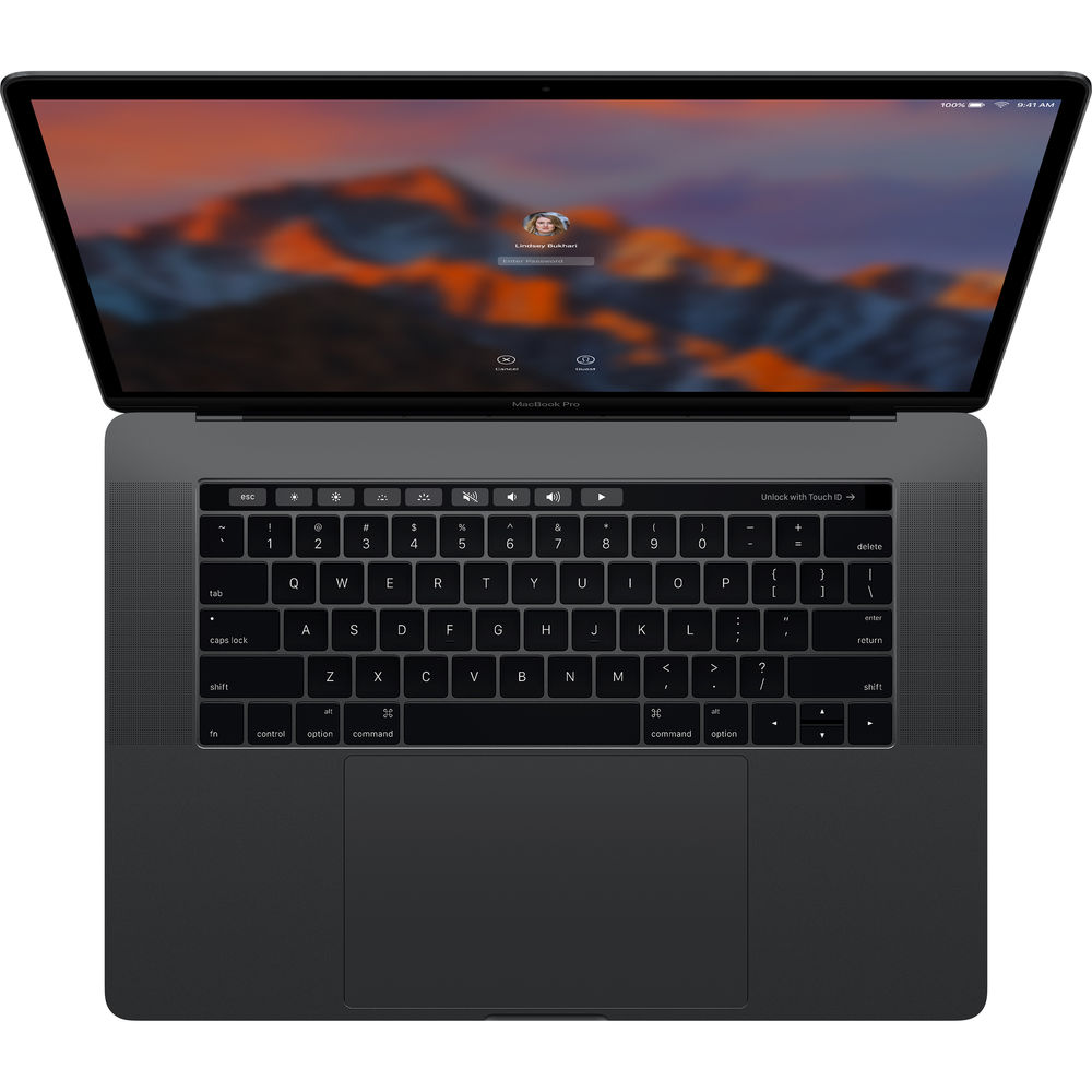 "Image of Apple Macbook Pro 15.4"" Retina Quad-core i7 2.6Ghz 16GB 256GB Pro 450 with Touch ID & Touch Bar Space Grey - MLH32 (2016 New Version), US keyboard Layout"