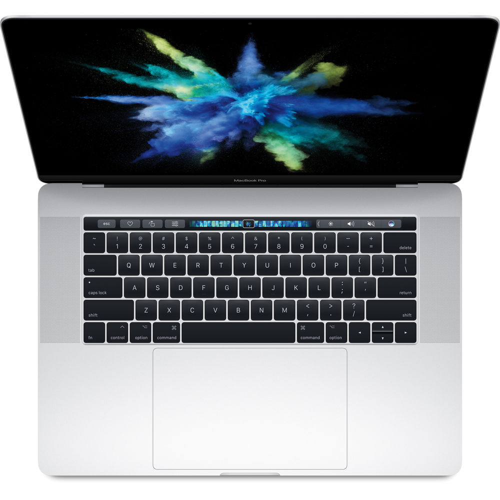 """Image of Apple Macbook Pro 2017 15.4"""""""" Retina Quad-core i7 2.9Ghz 16GB 512GB with Touch ID & Touch Bar Silver - MPTV2, US keyboard Layout"""