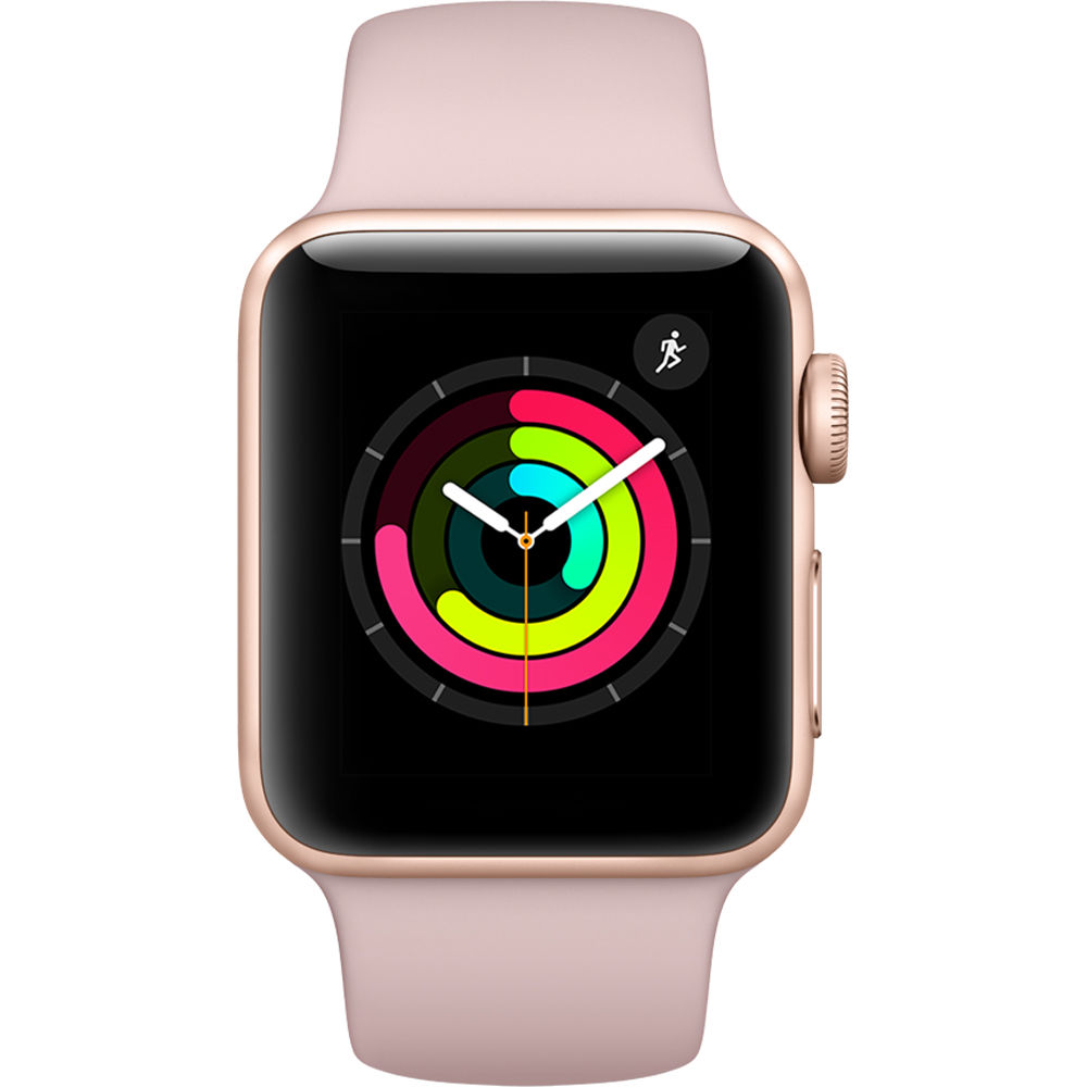 Apple Watch Series 3 - 38mm Gold Aluminium Case with Pink Sand Sport Band - MQKW2 cheapest retail price