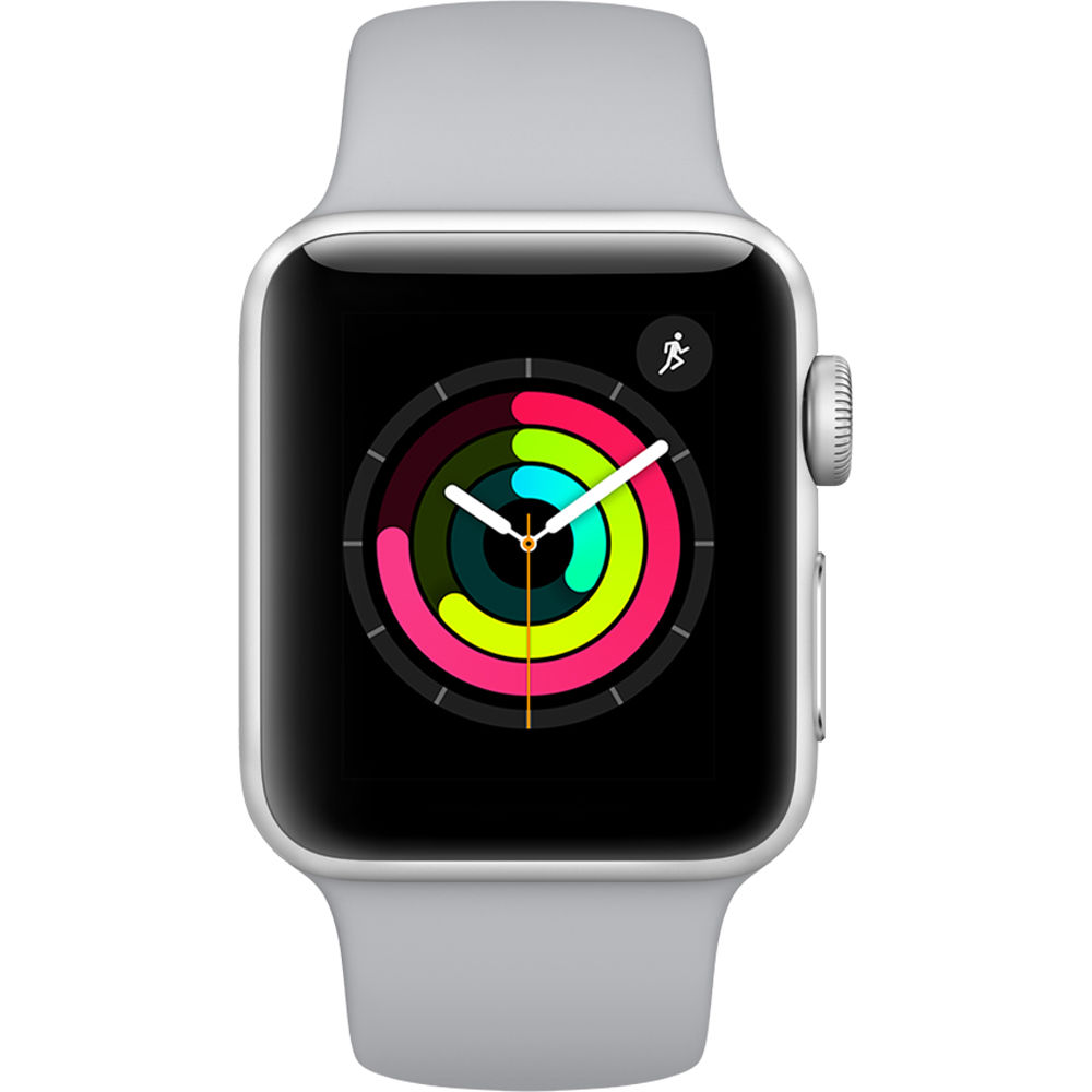 Apple Watch Series 3 - 38mm Silver Aluminium Case with Fog Sport Band - MQKU2 cheapest retail price