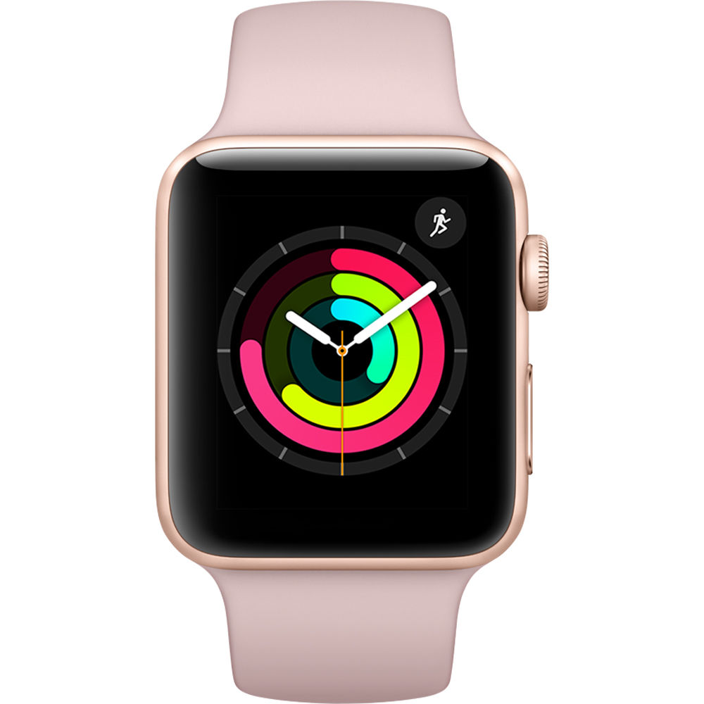 Apple Watch Series 3 - 42mm Gold Aluminium Case with Pink Sand Sport Band - MQL22 cheapest retail price
