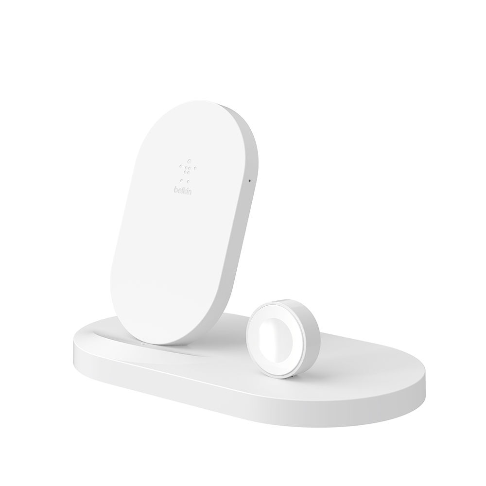 Belkin BOOSTUP Wireless Charging Dock with USB-A port for iPhone and Apple Watch - White cheapest retail price