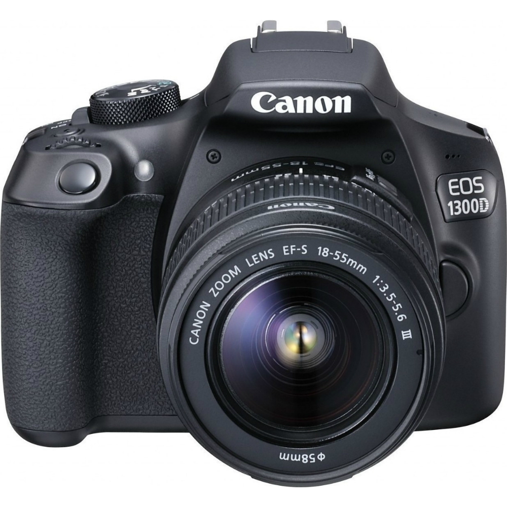 Image of Canon EOS 1300D Kit with 18-55 III Lens Digital SLR Cameras - Black