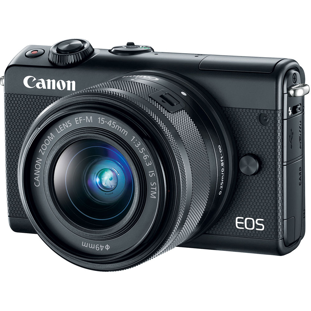 Image of Canon EOS M100 Mirrorless Digital Camera with EF-M 15-45mm camera Kit - Black