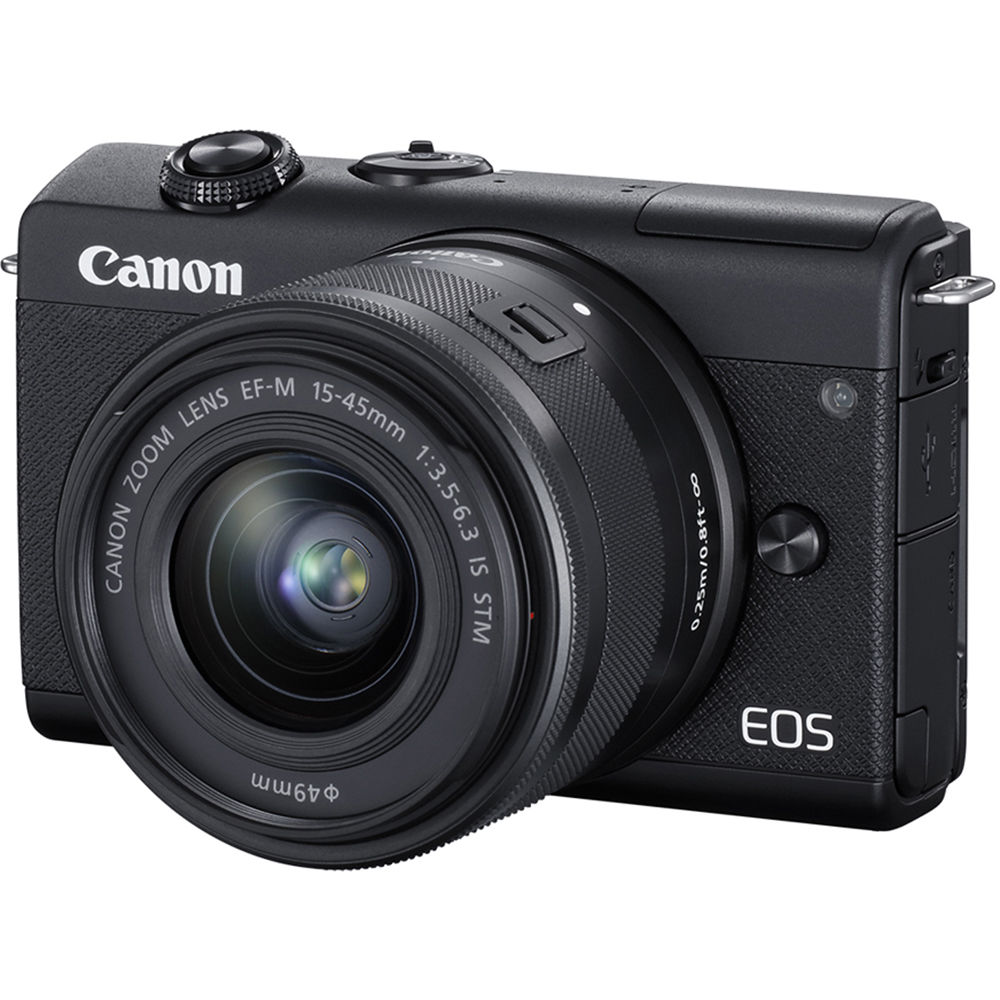 Image of Canon EOS M200 Mirrorless Digital Camera with 15-45mm Lens - Black