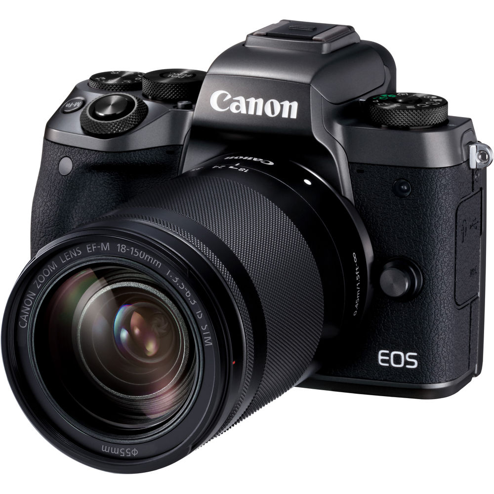 Canon EOS M5 Black CSC Camera Black EF M 18 150mm Lens