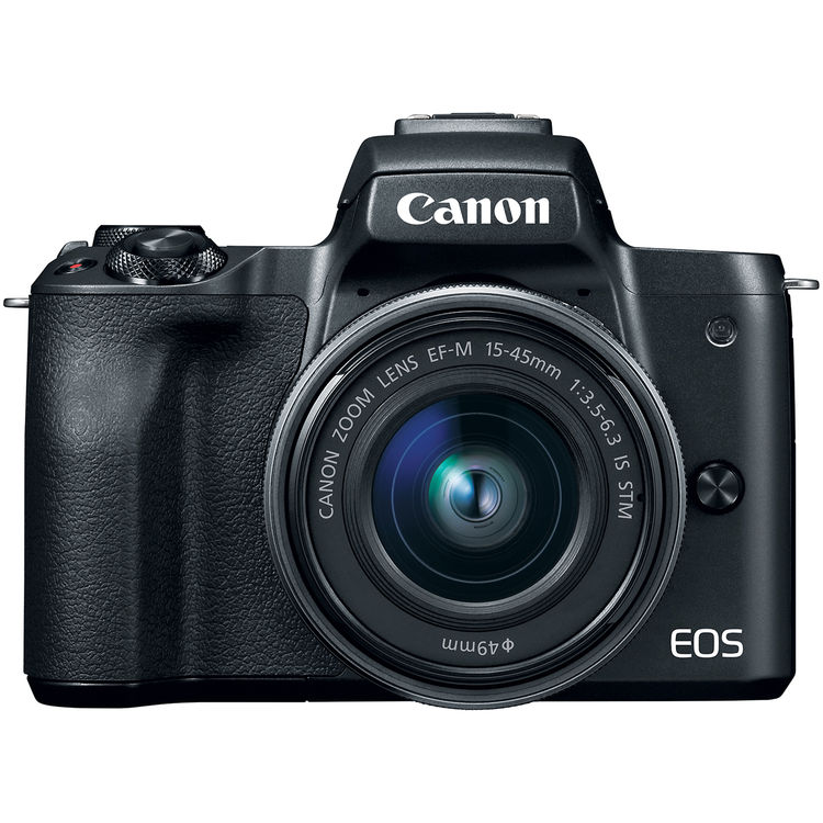 Image of Canon EOS M50 Mirrorless Digital Camera with EF-M 15-45mm camera Kit with Kingston 16GB min. 80MB/s SD Memory Card - Black