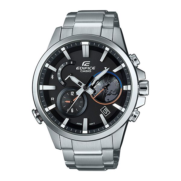 Image of Casio EDIFICE Smartphone Link Bluetooth Dual World Time Watch EQB-600D-1A - Black