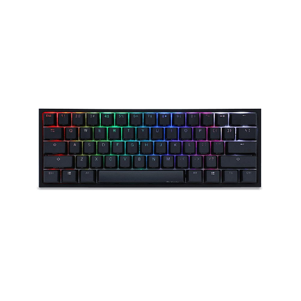 Image of Ducky One 2 Mini (V2) RGB DS PBT Red Cherry MX Mechanical Keyboard - Black/White (DK-DKON2061ST-RUSPDAZT1) (US Layout)