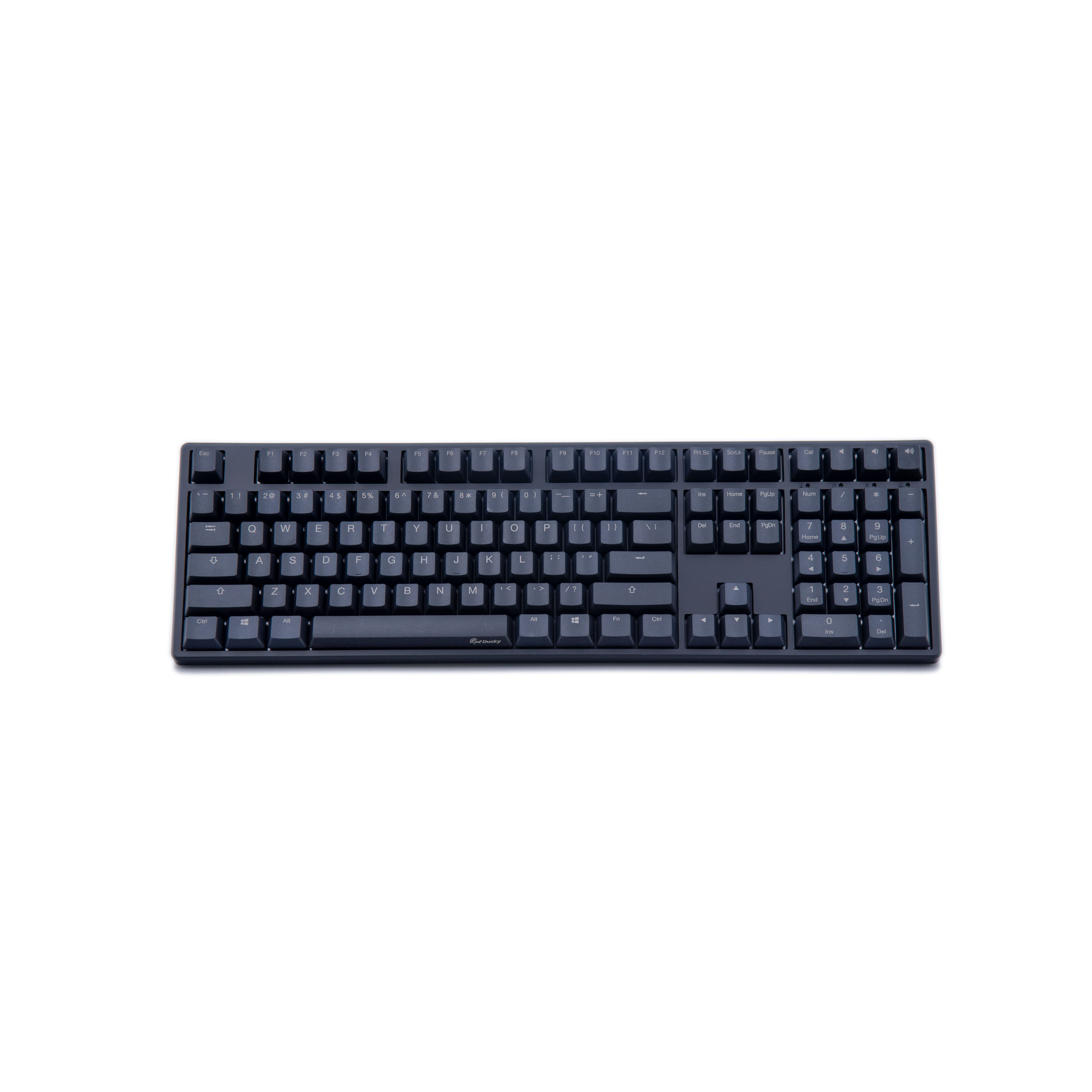 Image of Ducky One DKON1608 Cherry MX Blue Non-Backlit Mechanical Keyboard DKON1608-CHKPLAAB1 - Black (US Layout)