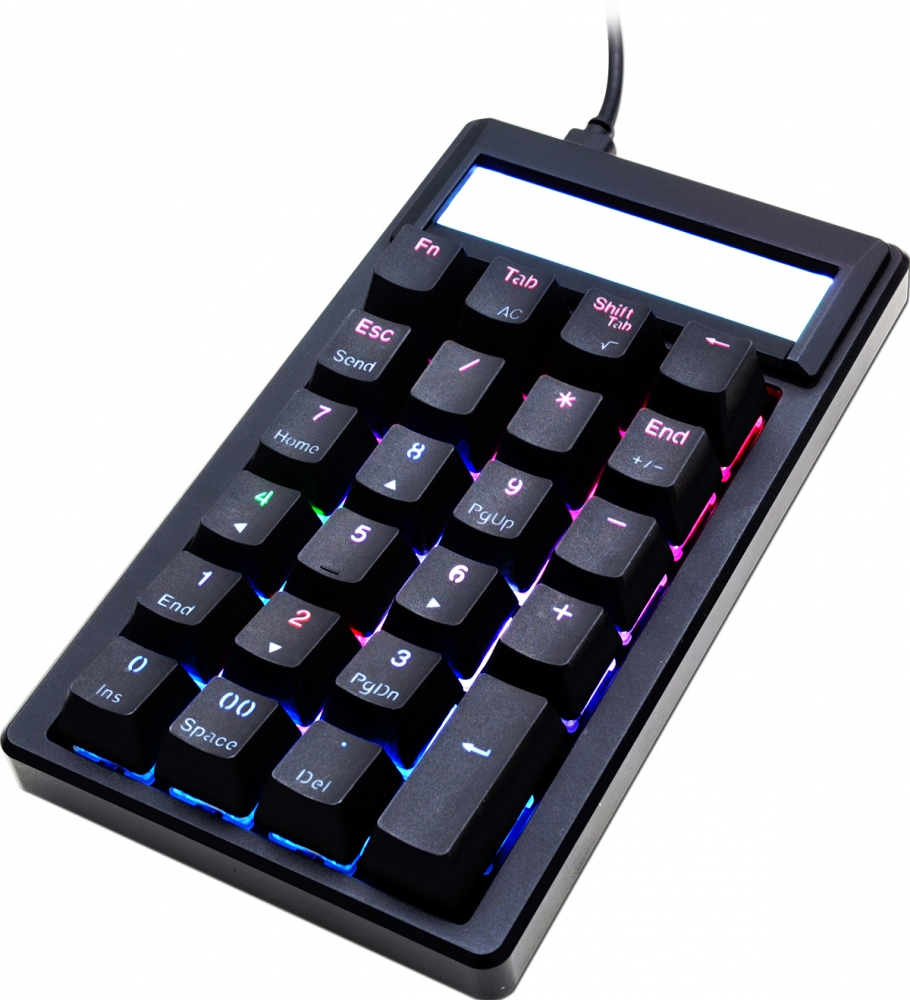 Image of Ducky Pocket Blue Cherry MX RGB Color LED Mechanical Keyboard (DKPO1623ST-CUSPDAAT1)