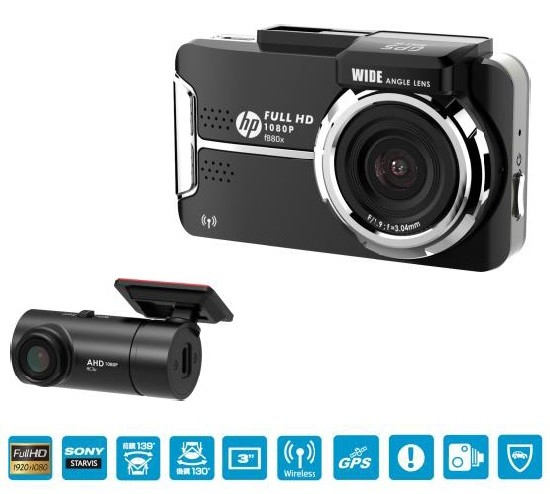 Image of HP f880x + RC3U Car Camcorder
