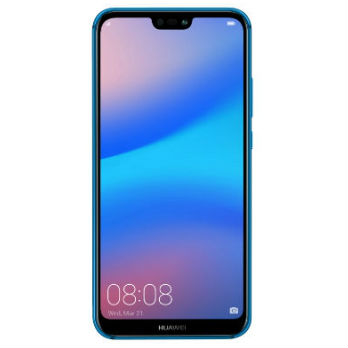 Image of Huawei P20 lite 4GB/64GB Dual Sim with 0.3mm Tempered Glass Screen Protector & Folding Case (Black) - Blue