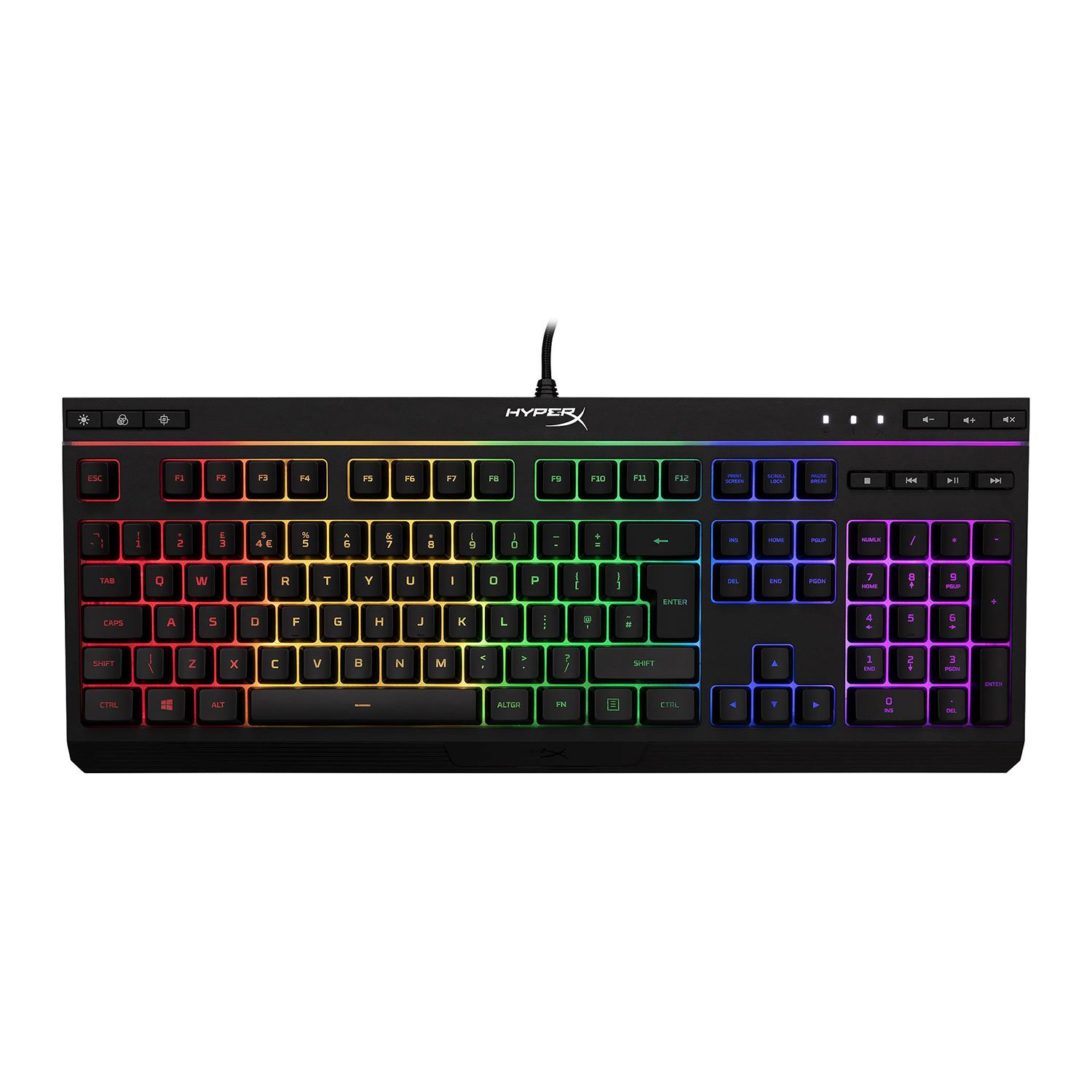 Image of HyperX Alloy Core (Tactile) RGB Membrane Gaming Keyboard - Black (US Layout)