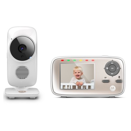 Image of Motorola MBP667 CONNECT Smart Video Baby Monitors with Wi-Fi Internet Viewing - White