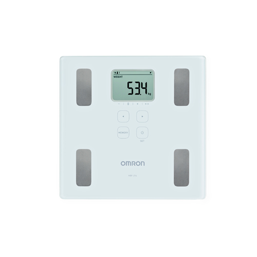 Image of Omron HBF-214 Body Composition Monitor - White