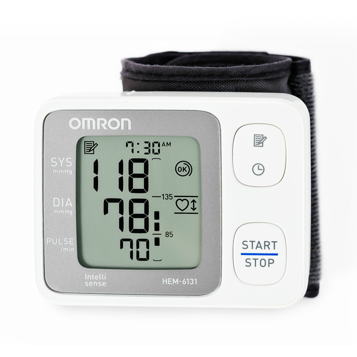 Image of OMRON HEM-6131 Automatic Wrist Blood Pressure Monitor