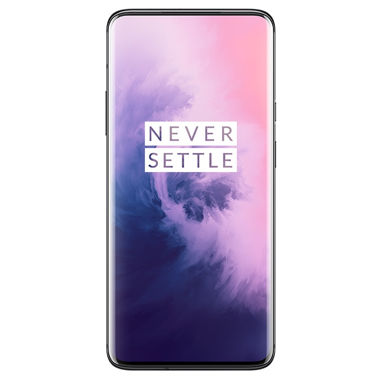 Image of Oneplus 7 Pro GM1910 6GB/128GB Dual Sim with Tempered Glass Screen Protector and Folding Case (Black) - Mirror Gray (CN Ver. with flashed OS)