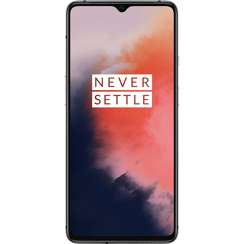 Image of Oneplus 7T 8GB/128GB Dual Sim with Screen Protector and Folding Case (Black) - Frosted Silver