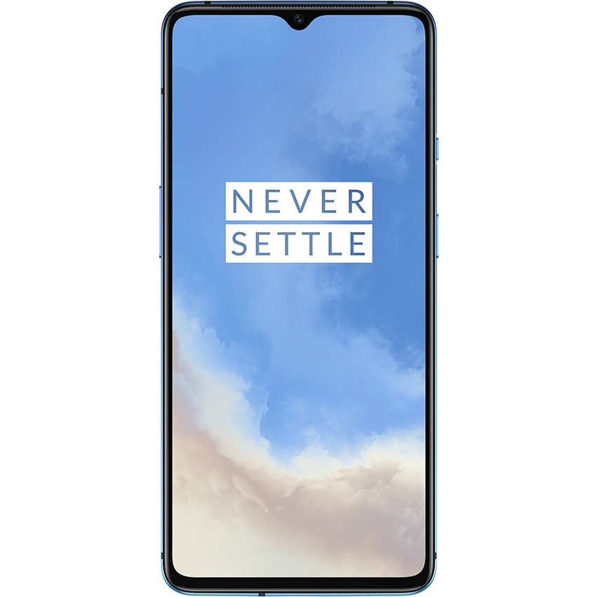 Image of Oneplus 7T HD1900 8GB/256GB Dual Sim with Screen Protector and Folding Case (Black) - Glacier Blue (CN Ver. with flashed OS)